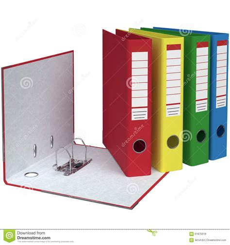 Office Folders by Set Of Office Folders Different Colors Stock Illustration