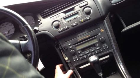 how to put in radio code for acura tl