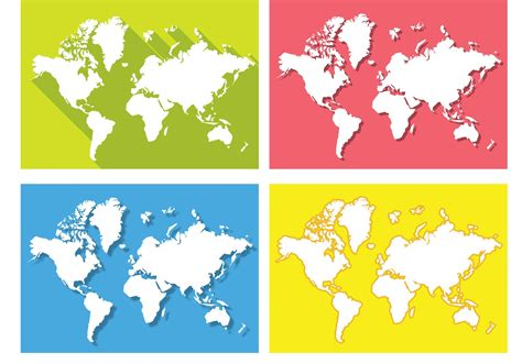 flat world map vector flat world map vectors free vector stock