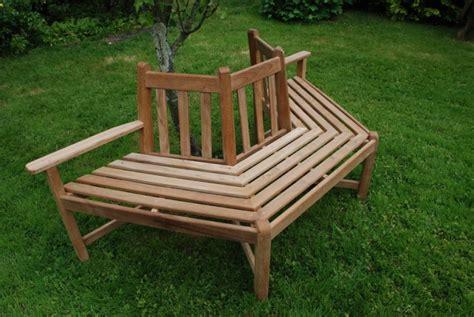 half tree bench quality teak tree benches