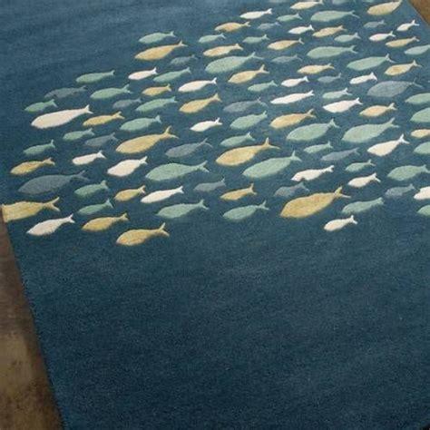 School Area Rugs School Of Fish Area Rug Falafel Atz