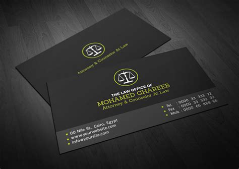 attorney at business card template 15 cool lawyer business cards printaholic
