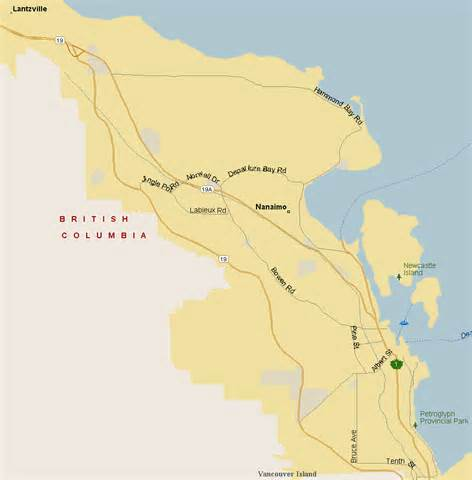 nanaimo map region columbia listings canada