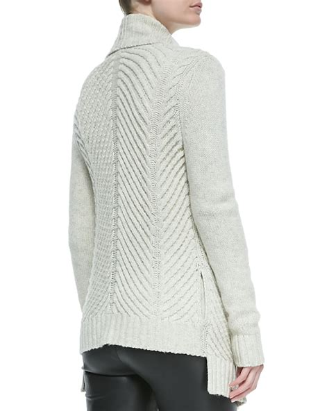 knit open front cardigan vince ribbed open front knit cardigan in gray soft grey