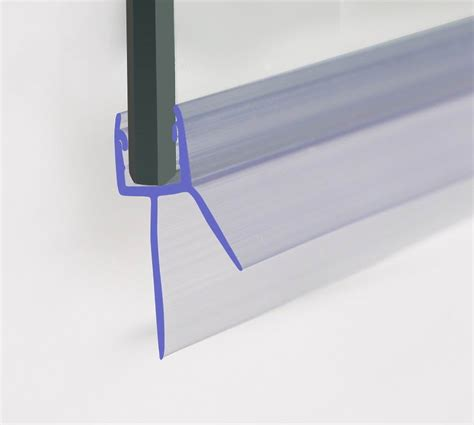 Glass Shower Door Bottom Seal Bath Shower Screen Door Rubber Plastic Seal For 6 8mm Glass Up To 20mm Gap Ebay