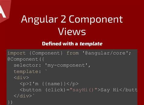 React Vs Angular2 Angular 2 Template