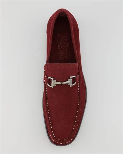 ferragamo magnifico loafer lyst ferragamo magnifico suede loafer in for