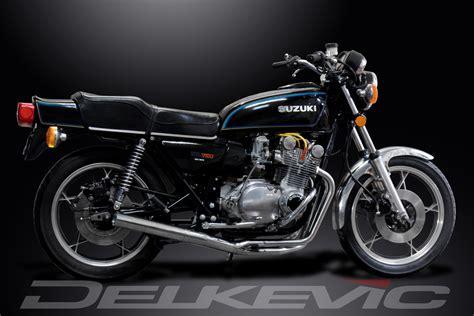 78 Suzuki Gs750 4 1 Classic Muffler Complete Stainless System