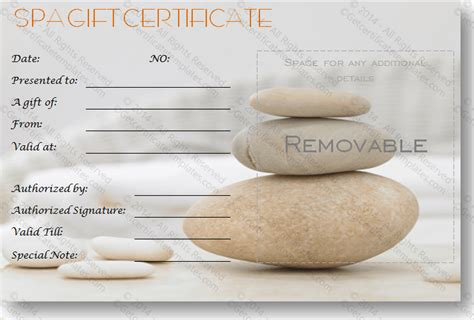 free spa gift certificate template printable best photos of spa gift certificate template printable