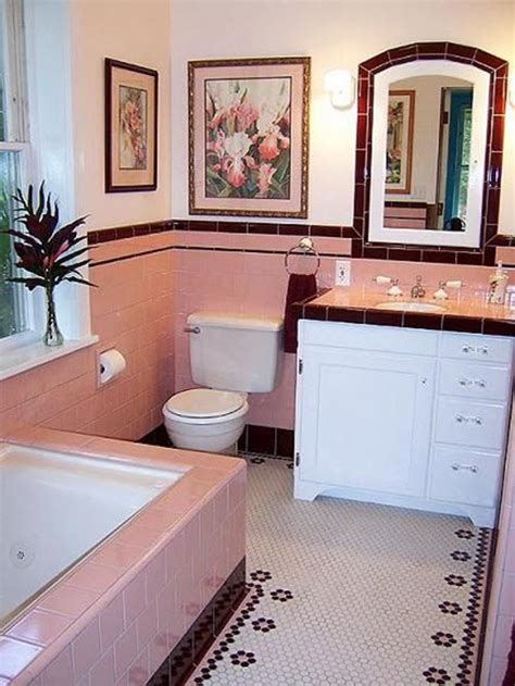 Pink Tile Bathroom Decorating Ideas by 36 Retro Pink Bathroom Tile Ideas And Pictures