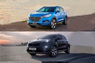 Kia Sportage Vs Hyundai Tucson 2016 Hyundai Tucson Vs 2017 Kia Sportage