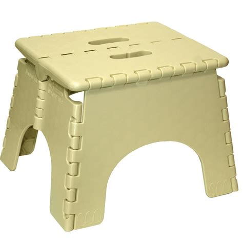 e z foldz folding step stool 9 beige