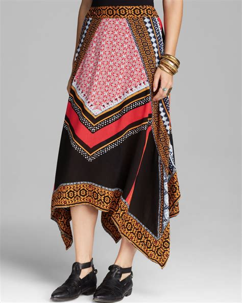 free midi skirt bedouin traveler in lyst