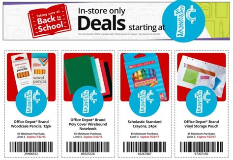 office depot coupons school supplies office depot released coupons for additional 01 school