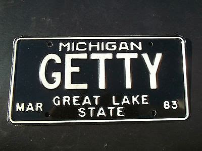 Mi Vanity Plate by Us Michigan License Plates Automobilia Transportation