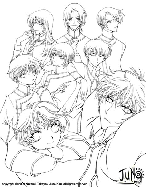 Fruits Basket Manga Coloring Pages Coloring Pages Fruits Basket Coloring Pages