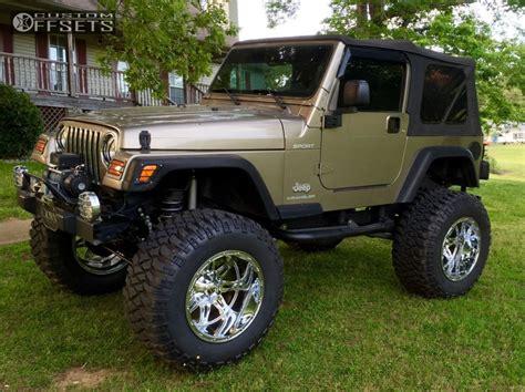 lifted jeep tj wheel offset 2003 jeep tj hella stance 5 lifted 9 custom rims