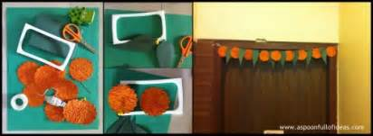How To Make Paper Toran - simple and easy diwali crafts traditional handmade paper