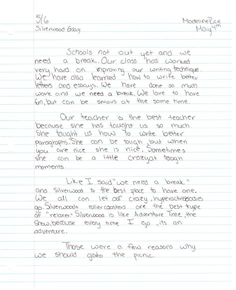 Essay On A Snowy Day by Why My Class Needs A Picnic At Silverwood Theme Park Reader Document Gallery Spokane7