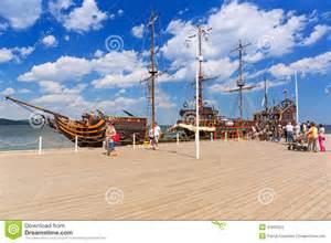 Seaside House Plans pirate galleon at sopot molo on baltic sea poland