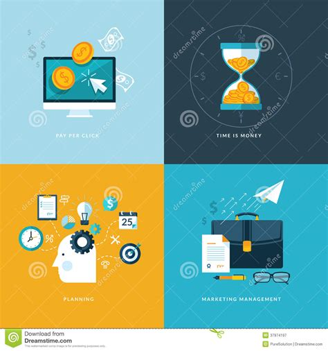 design a logo application set of flat design concept icons for web and mobil vector