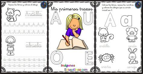 imagenes educativas vocales mis primeros trazos con las vocales imagenes educativas