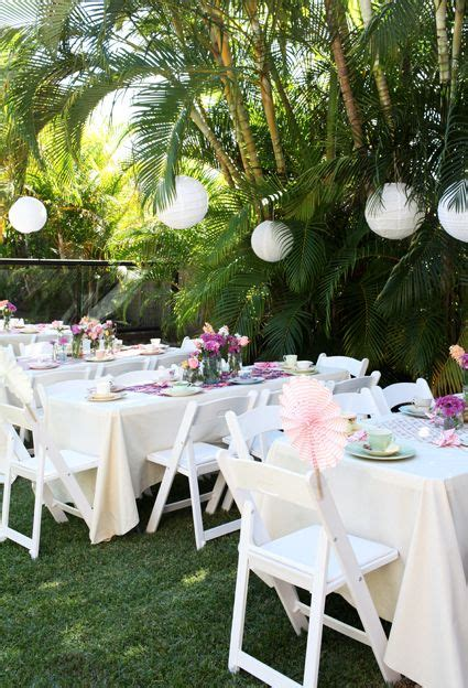 simple outdoor party baby shower high tea birthday