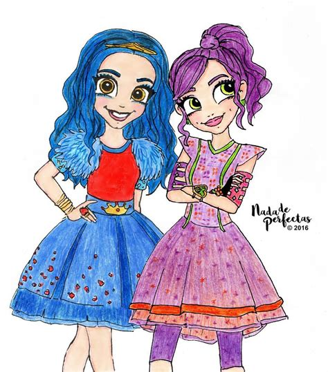 anime mal and evie nada de perfectas best friends in good and bad times as
