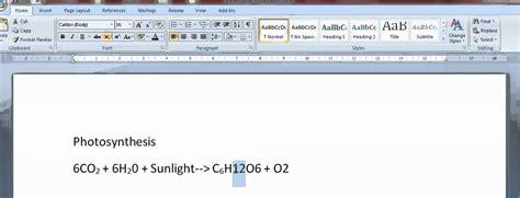 write chemical formulas  word youtube