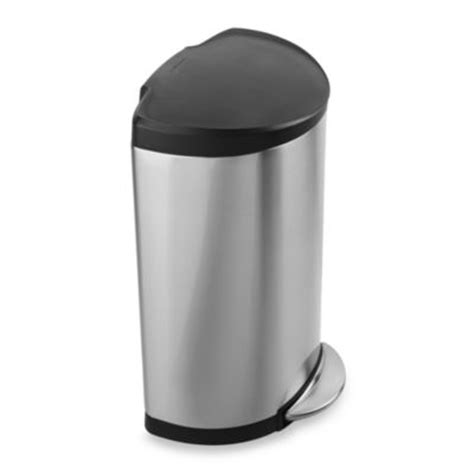 bed bath beyond trash can buy simplehuman 174 toilet brush in stainless steel black