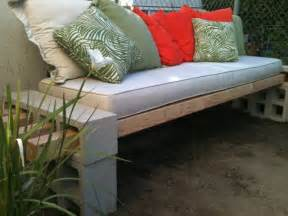 cinder block patio bench upcycled garden style a website from gardens inspired