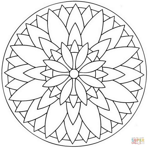 mandala coloring pages of flowers flower mandala sketch coloring page