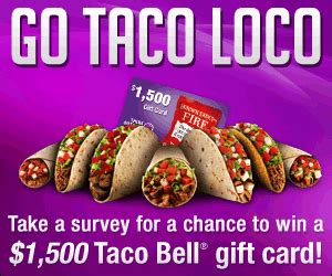Taco Bell Gift Card Free - 1 500 taco bell gift card