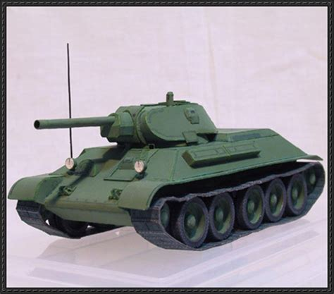 Paper Craft Square - wwii t 34 76 1941 tank paper model free