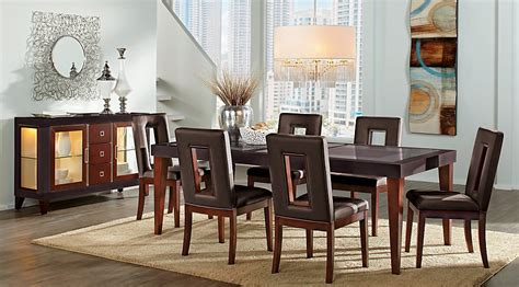 dining room sets atlanta 8496 sofia vergara savona chocolate 5 pc rectangle dining room