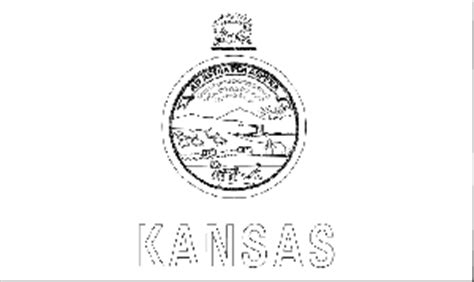 kansas state flag coloring page