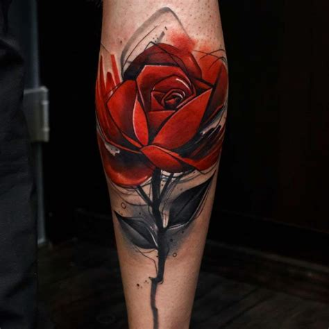 rose tattoo on calf the 25 best tattoos ideas on