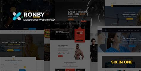 themeforest free psd download themeforest ronby multi purpose psd template nulled