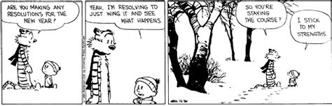 calvin and hobbes new years resolution calvin hobbes resolutions 4 on target