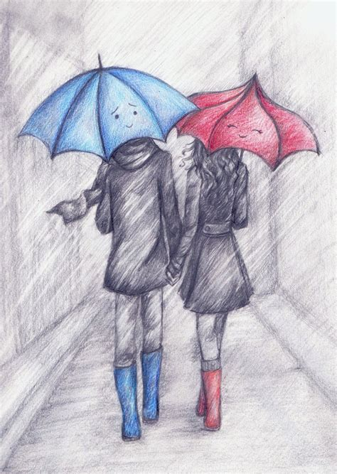 never be afraid to walk in the rain with the one person