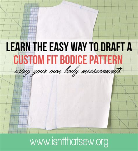 bodice pattern making youtube how to draft a custom fit bodice block pattern isn t
