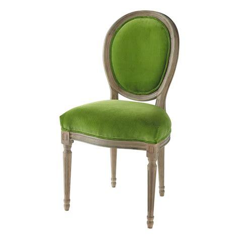 chaise verte chaise m 233 daillon en velours et ch 234 ne massif verte louis