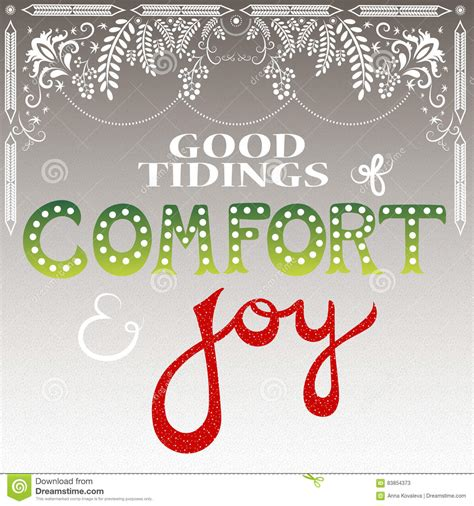 good tidings of comfort and joy good tidings of comfort and joy stock vector image 83854373