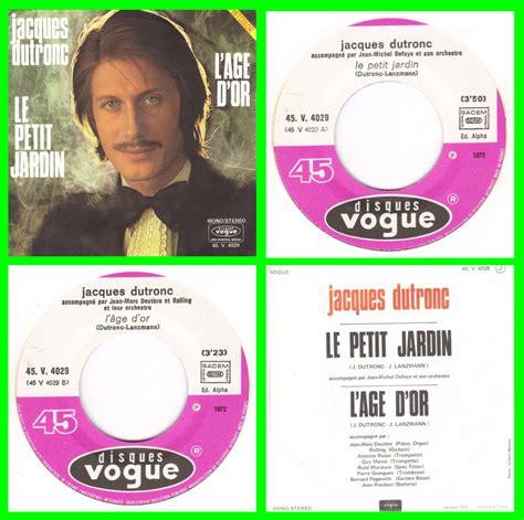 jacques dutronc vinyl acheter disque vinyle le petit jardin jacques dutronc 224 vendre