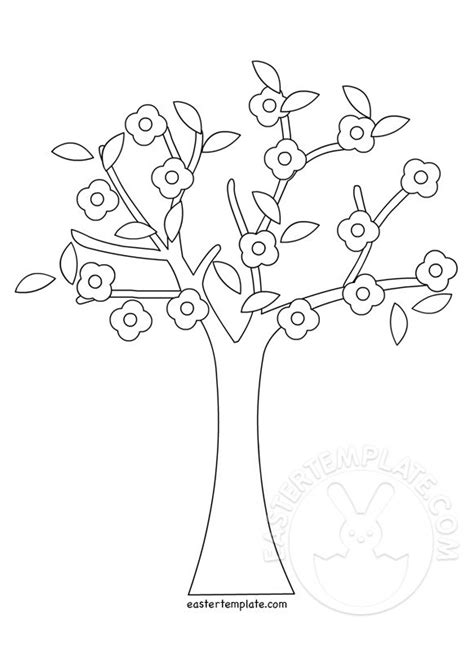 coloring pages of spring trees spring tree coloring pages printable easter template