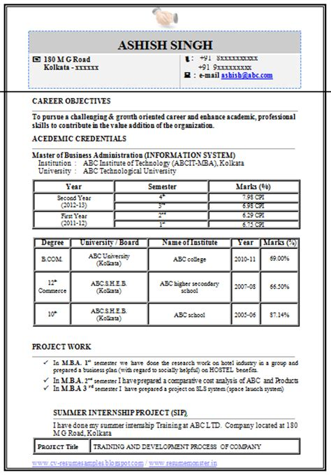 information technology resume template word 10000 cv and resume sles with free mba