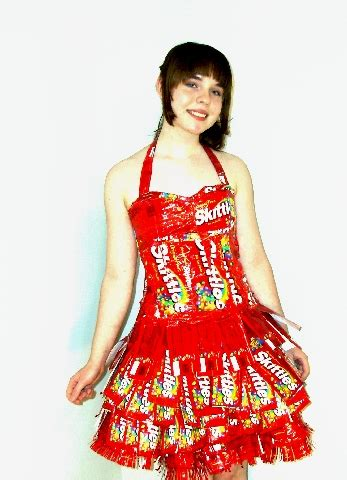 clothes for a for all time my skittle wrapper prom dress updated clothing