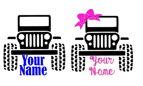 jeep decal with bow jeep decal jeep decal jeep sticker jeep jeep