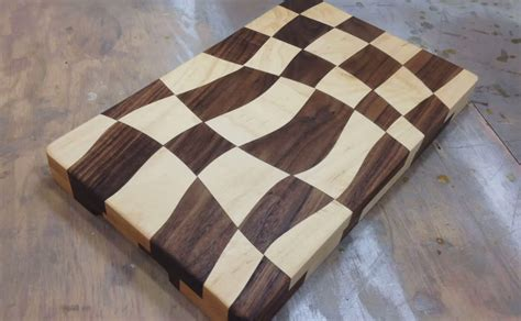 pattern cutting jobs new york swirly checkered wooden cutting board make