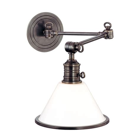 wall sconce swing arm hudson valley lighting 8332 garden city transitional swing